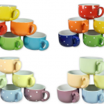 6 Large Colored Ceramic Coffee & Soup Mugs Just $9.99 Shipped!