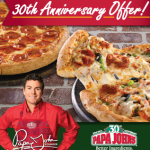 Papa Johns Promo Code: Buy One Large Pizza, Get One for 30 Cents!