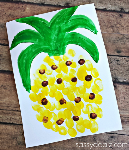 pineapple-fingerprint-craft-for-kids