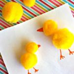 Easy Pom Pom Chicks Craft for Kids