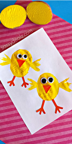 Chick Potato Stamping Craft For Kids Crafty Morning