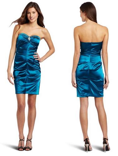de870caa63a Slim Satin Teal Prom Dress Just  21.80 (Reg  109!) - Sassy Dealz