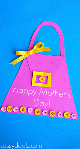 Incredible Mothers Day Purse Card For Kids To Make Crafty Morning Funny Birthday Cards Online Fluifree Goldxyz