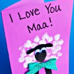 Fingerprint Sheep Mother's Day Card Idea
