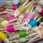 Cheap Thread Storage Idea: Clothespins