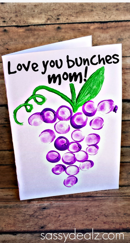 Kids Thumbprint Grapes Card