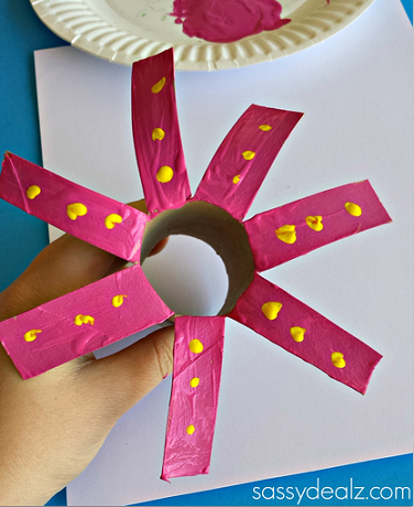 Flower craft for kids using a toilet paper roll crafty morning toilet paper roll flower craft mightylinksfo