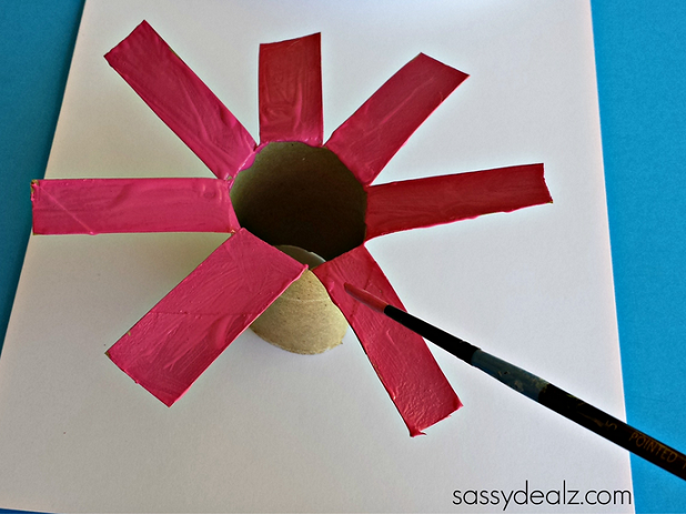 Flower Crafts With Toilet Paper Rolls With White Paint