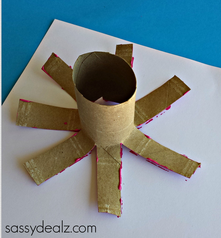 Flower Craft For Kids Using A Toilet Paper Roll Crafty