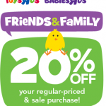 Toys R Us Coupon: Get 20% Off Your Purchase (Exp 4/5)