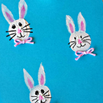 Bunny Craft Using a Wine Cork for a Stamp