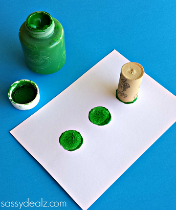 how to make white paper into green paper