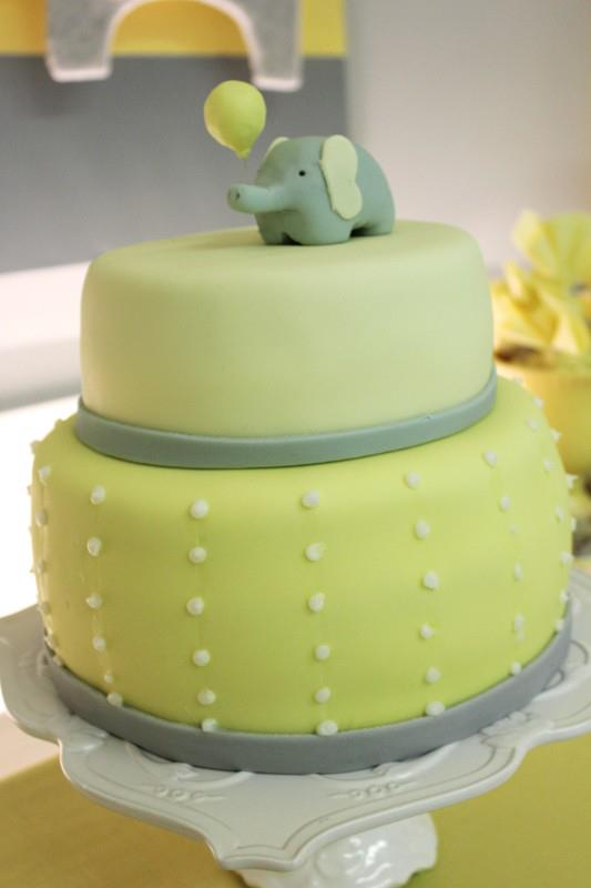 yellow-gray-baby-shower-cake
