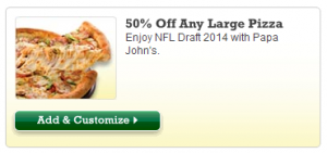 Papa John's Promo Code: Get 50% Off Any Large Pizza (Exp 5/11)