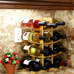 12-Bottle Bamboo Wine Rack Only $15.94 (Reg $25)
