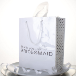 12 White Bridesmaid Thank You Gift Bags Only $7 Shipped!