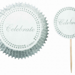 24 Celebrate Cupcake Liners + 24 Picks Only $2.29 Shipped