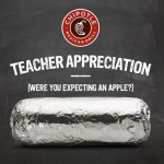 Chipotle: Buy One, Get One Free Deal for Teachers! (May 6th, 4PM-Close)
