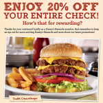 Denny's Coupon: Get 20% Off Your Entire Check (Exp 5/15)
