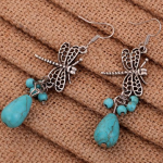Turquoise Dragonfly Earrings Only $3.27 Shipped