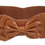 Women's Elastic Coffee Bow Belt Just $3.88 Shipped