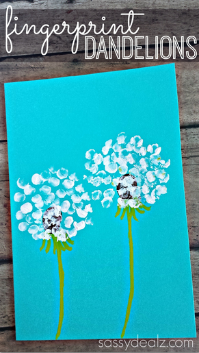 fingerprint-dandelion-craft-for-kids