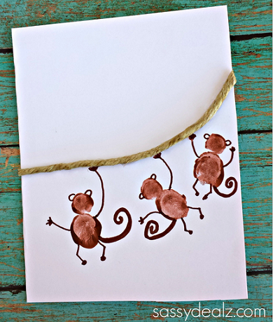 fingerprint-monkey-craft-fathers-day-card