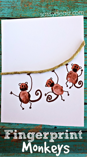 fingerprint-monkey-craft-for-kids-