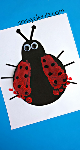 footprint-ladybug-kids-craft