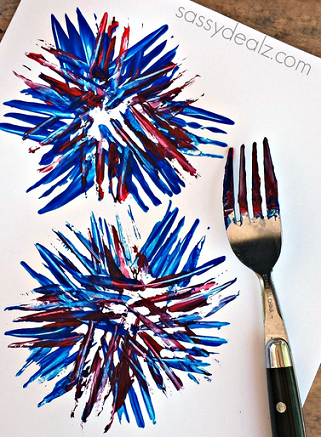 fork-firework-print-craft-for-kids-