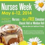 Cinnabon: Nurses Get a Free Classic Roll or Minibon (Exp 5/12)