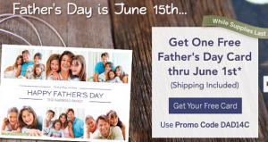 Free Father's Day Card w/ Promo Code