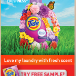 Free Sample of Tide Detergent