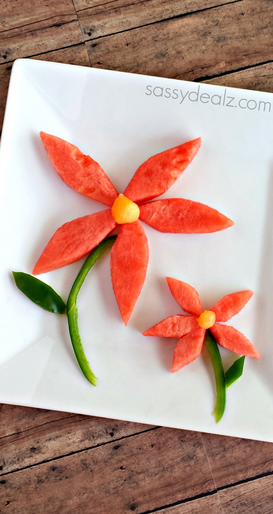 Healthy Watermelon Flower Snack for Kids