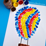 Fingerprint Hot Air Balloon Craft for Kids