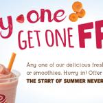 Jamba Juice Coupon: Buy One Smoothie or Juice, Get One Free (Exp 5/26)