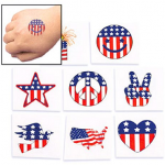 72 Temporary Patriotic Tattoos Only $5.99 + Free Shipping