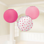 3 Pink Paper Lanterns For a Party Only $8.13 Shipped