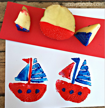 potato-sailboat-stamping-craft-for-kids