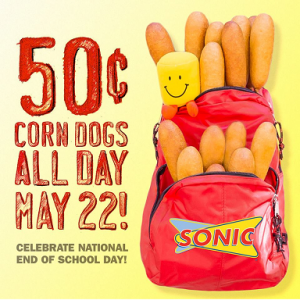 Sonic: 50 Cent Corn Dogs All Day (May 22nd)