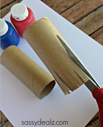 Toilet paper roll fireworks craft for kids crafty morning for Painting toilet paper rolls