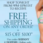 Victoria's Secret: Free Shipping w/ Promo Code 9-11PM (5/12)