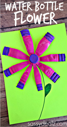 water-bottle-flower-craft-for-kids