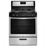 Sears: Stainless Steel Whirlpool 5.1-cu. ft. Gas Range Only $375 (Reg $730)