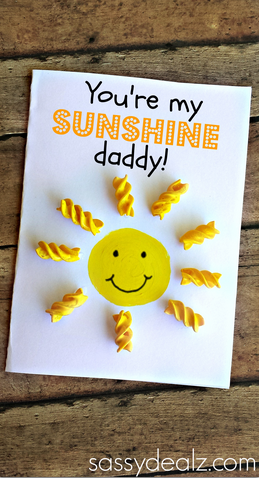 Creative fathers day cards for kids to make crafty morning youre my sunshine noodle fathers day card m4hsunfo