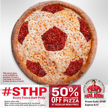 Papa John S Promo Code Get 50 Off Any Large Pizza 6 17 Only
