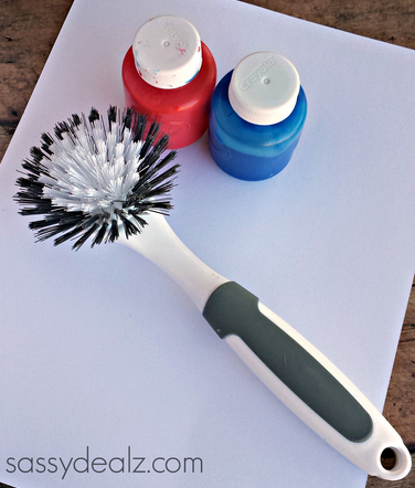 dish-brush-fireworks-craft-for-the-4th-of-july