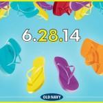 Old Navy: $1 Flip Flops + $2 Tank Tops on June 28th!