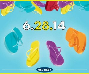 Old Navy: $1 Flip Flops + $2 Tank Tops on June 28th!