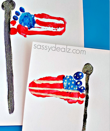 footprint-american-flag-craft-for-kids-